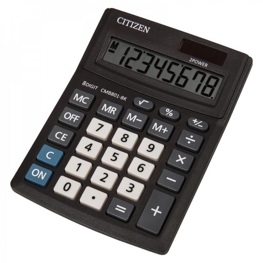Калькулятор настольный CITIZEN BusinessLine CMB801-BK, 8 разр, черн.
