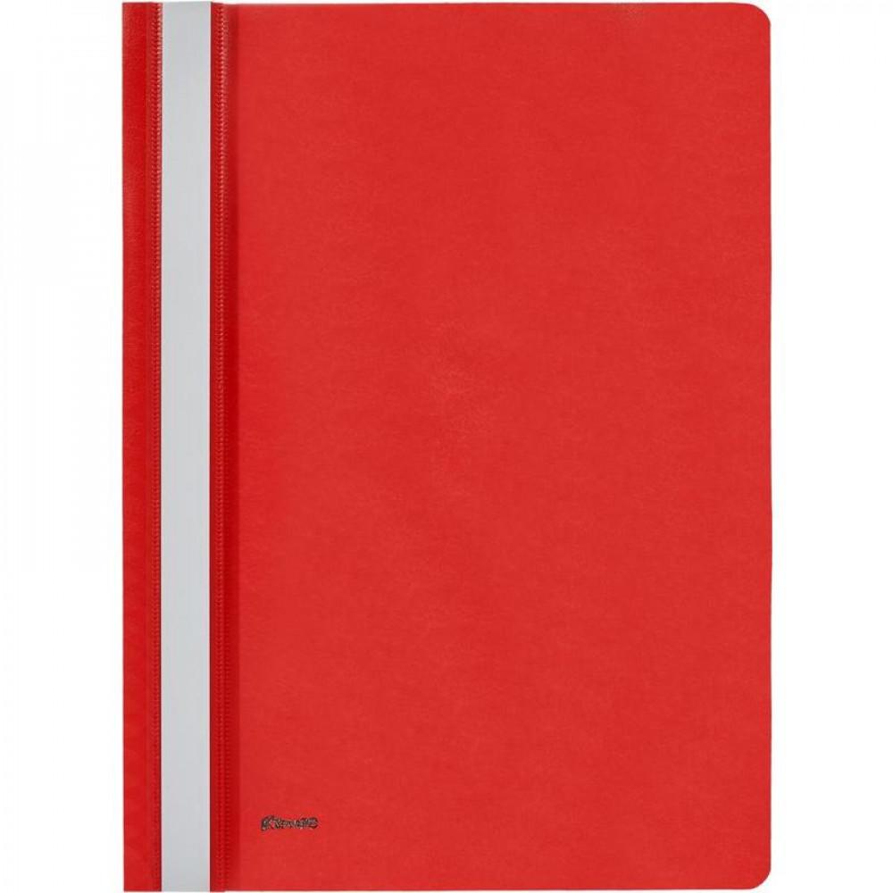 Папка-скоросшиватель А4 красная (толщина обложки 0.13 мм и 0.18 мм)