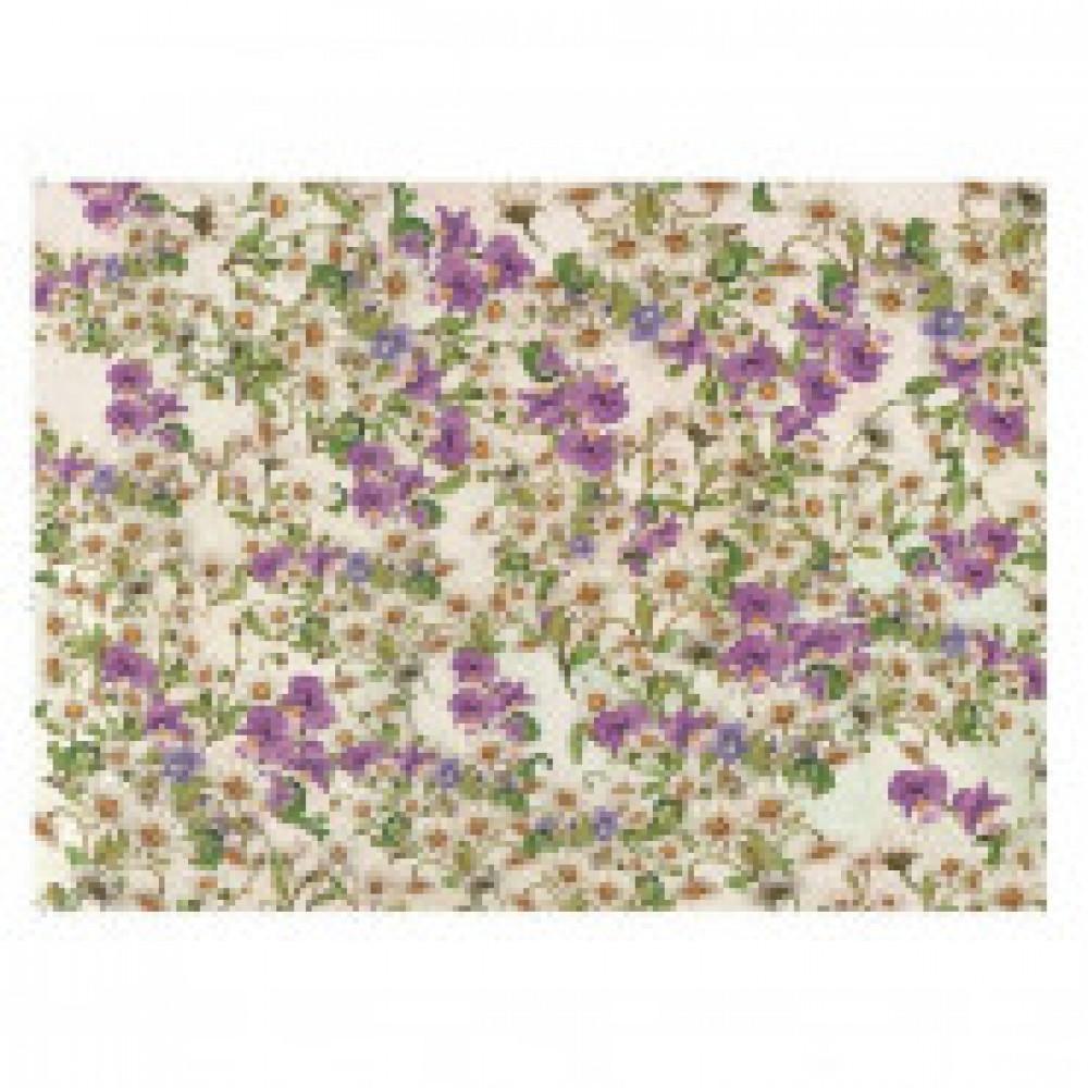 Бумага упаковочная крафт Цветы 601х846 арт.Бумага А1 №4
