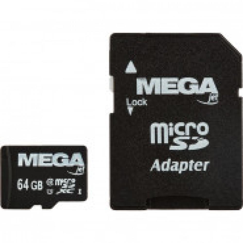 Карта памяти Promega jet microSDHC 64GB Class10+адаптер