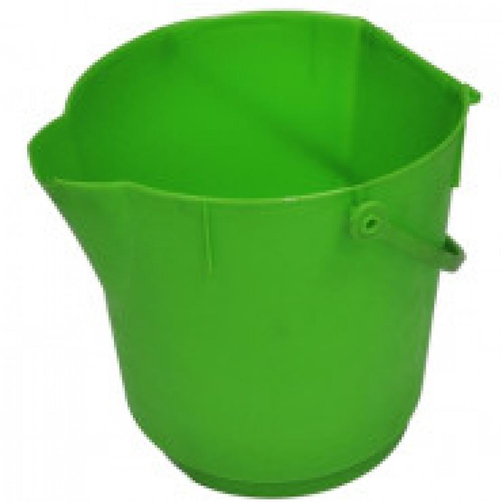Ведро ультра гигиеническое 12 л 300х280мм MBK15 G зеленое