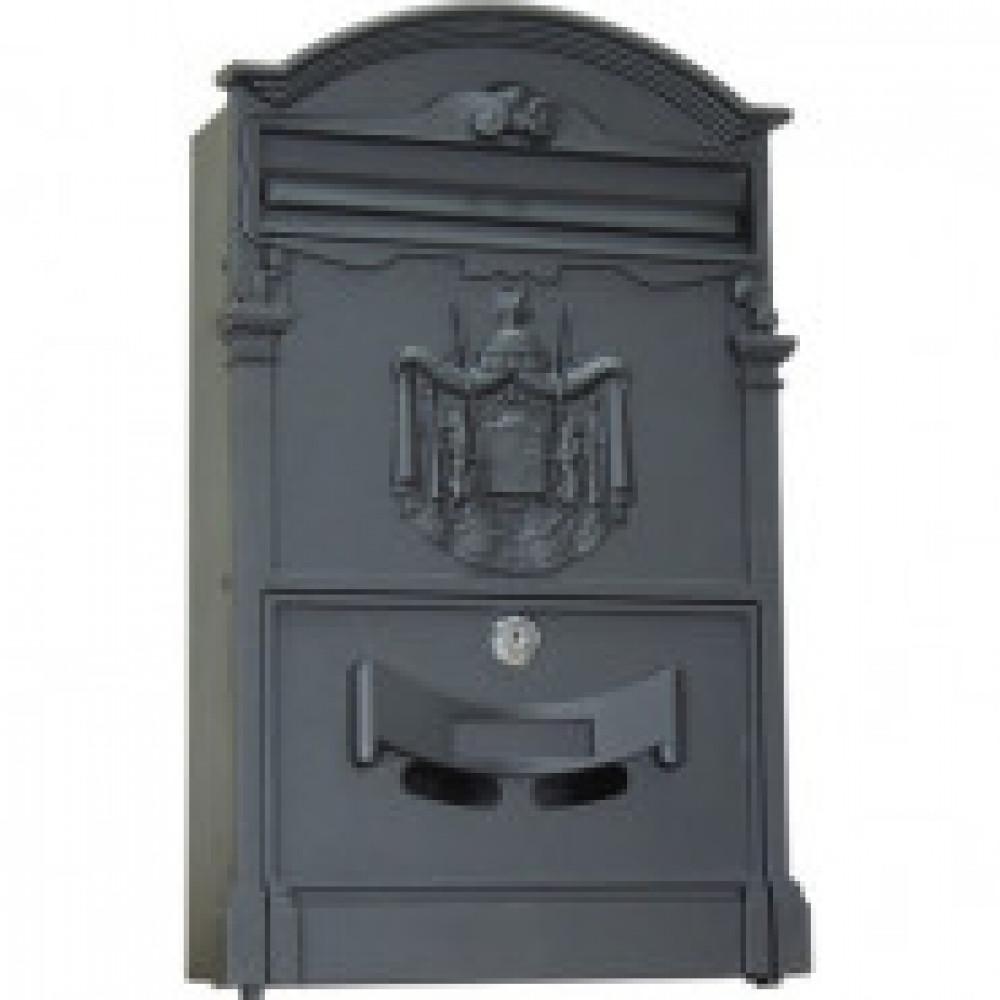 Ящик почтовый Мн LB, ящик почтовый, 1 секция, черный 256х87х405