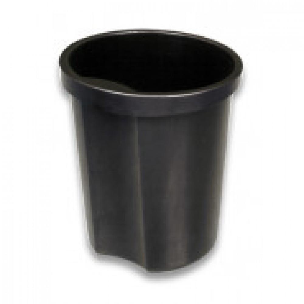 Корзина офисная 12л пластик, черная с держателем СТАММ КР