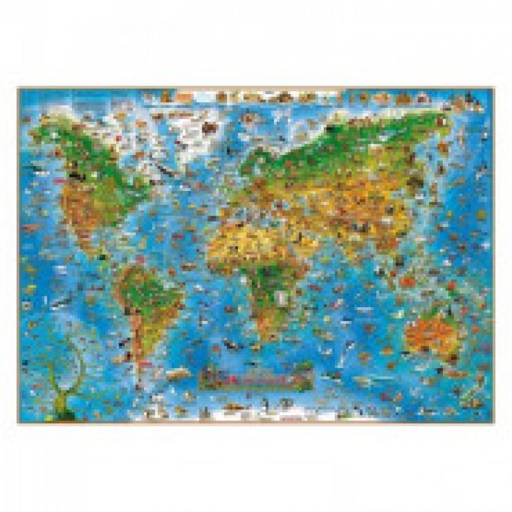 Настенная карта Детская карта мира.Животные 1,37Х0,97 978-1-905502-71-4