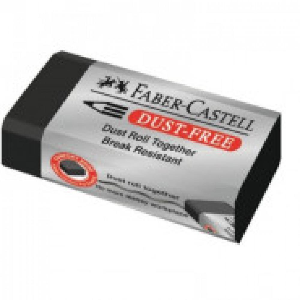 Ластик DUST-FREE, ПВХ, прямоугольный, карт.держат., цв.черный, 60x21x11 мм