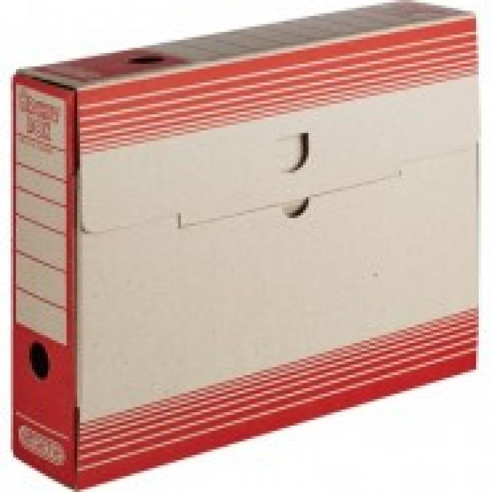 Короб архивный Attache картон красный 256х75х322мм
