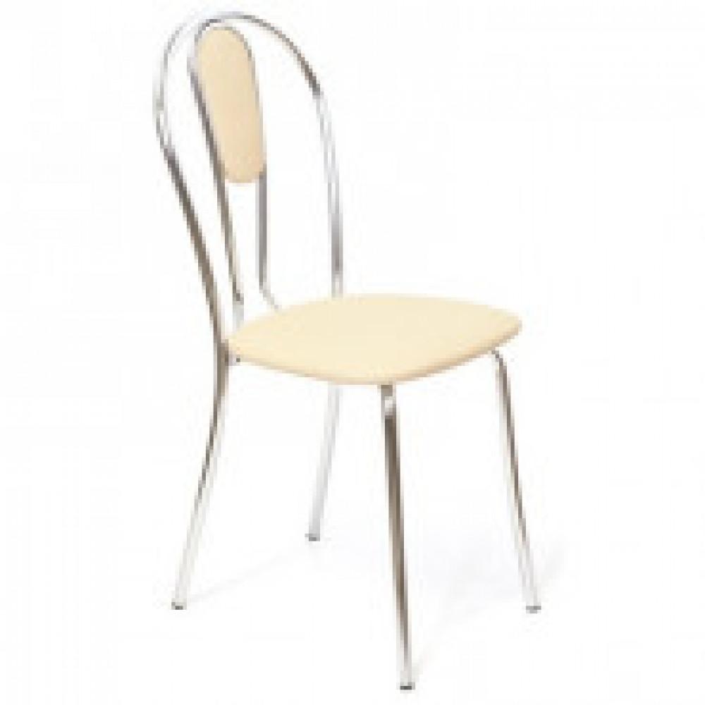Стул для столовых UP_Венус М каркас хром, к/з бежевый Z21