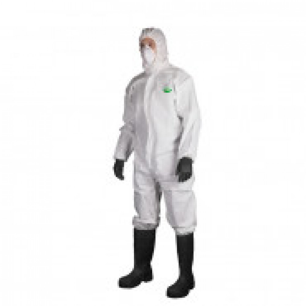 Одноразовая одежда Комбинезон с капюш SafeGard76 белый р-р XXL (ES428)