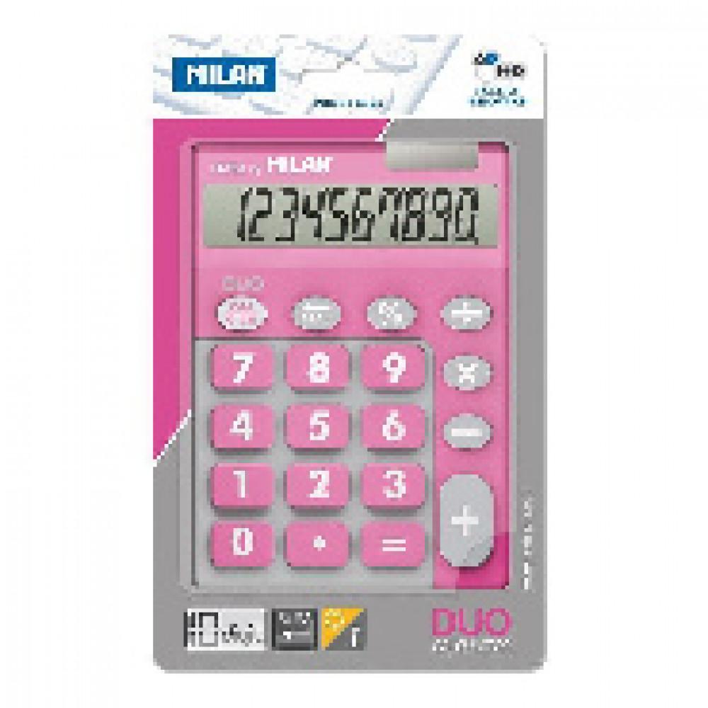 Калькулятор Milan 10-разряд, в чехле, двойное питание, розовый 150610TDPBL