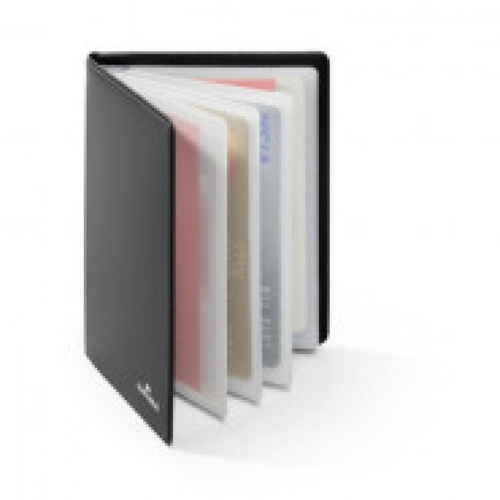 Визитница настольная для кредитных карт с защитой от RFID-сканирования темно-серая Durable