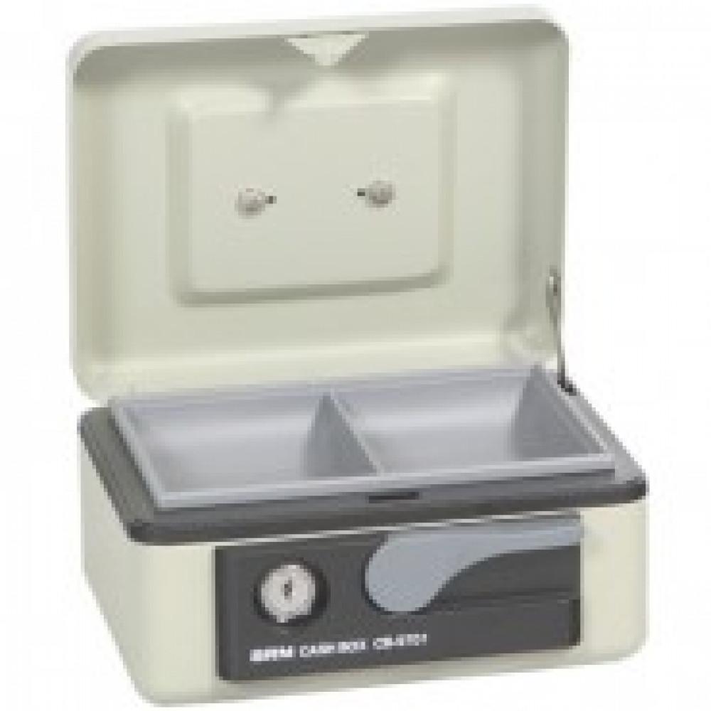 Метал.Мебель SHUH RU CB-9701N кэшбокс св.серый, ключ.з 165х125х80