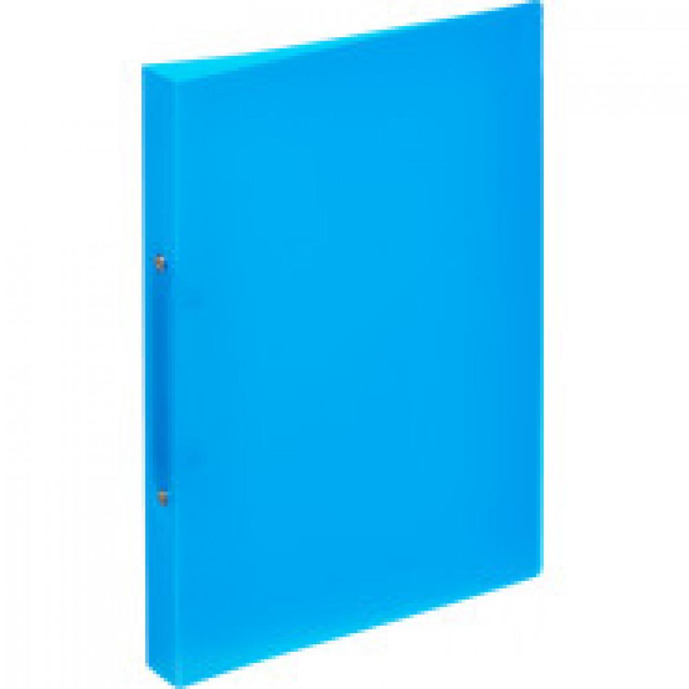 Папка на 2-х кольцах Attache 32 мм синяя до 150 листов (пластик 0.45 мм)