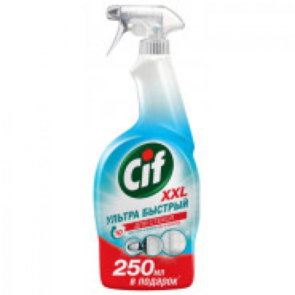Средство для стекол CIF спрей 500мл+250 мл в подарок