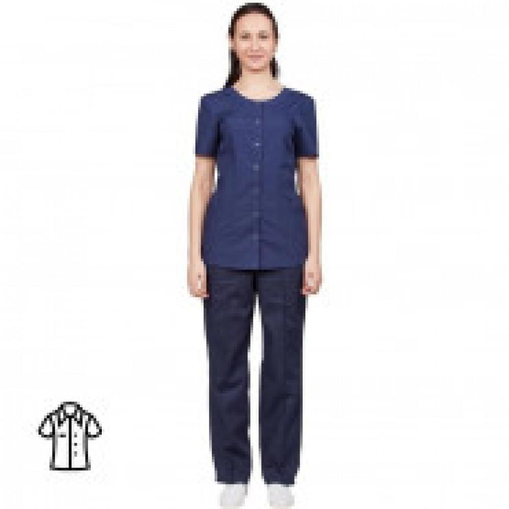 Блуза женская синяя м16-БЛ (р.56-58) р.158-164