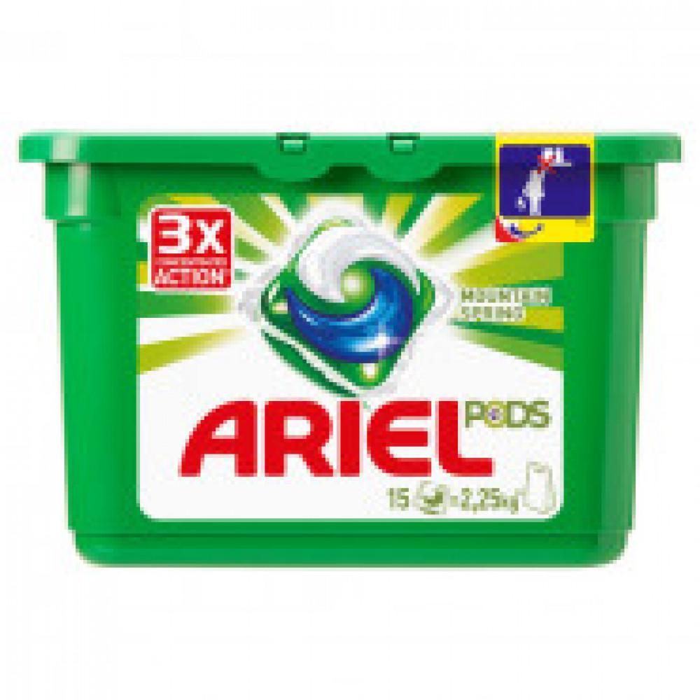 Капсулы для стирки Ariel 3в1 автомат д/белого белья 15кап/уп