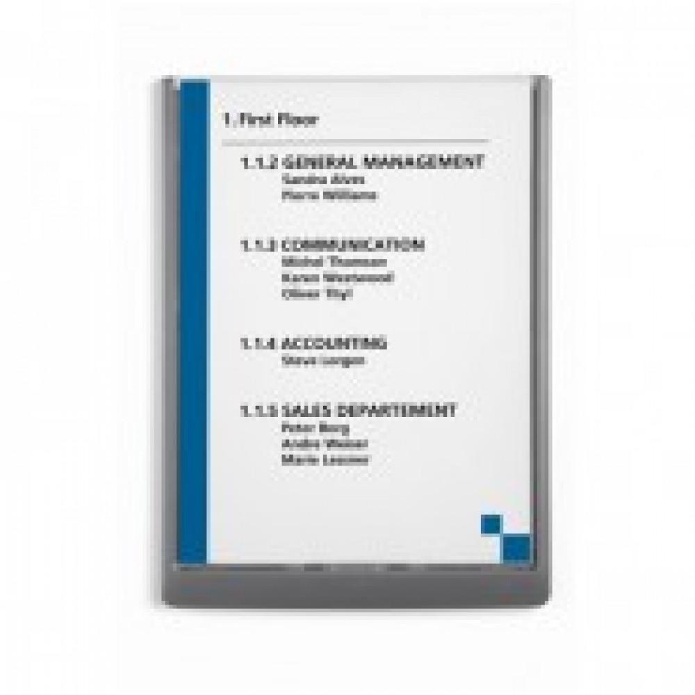 Информационная табличка настенная 21х29,7серая DURABLE 4867-37 пластик/акри