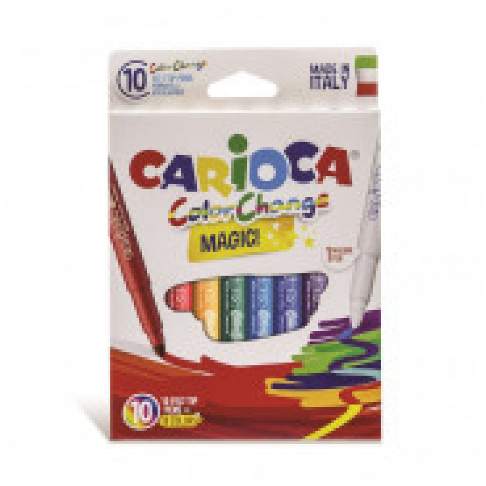 Фломастеры 10цв.,CARIOCA ColorChange, 42737