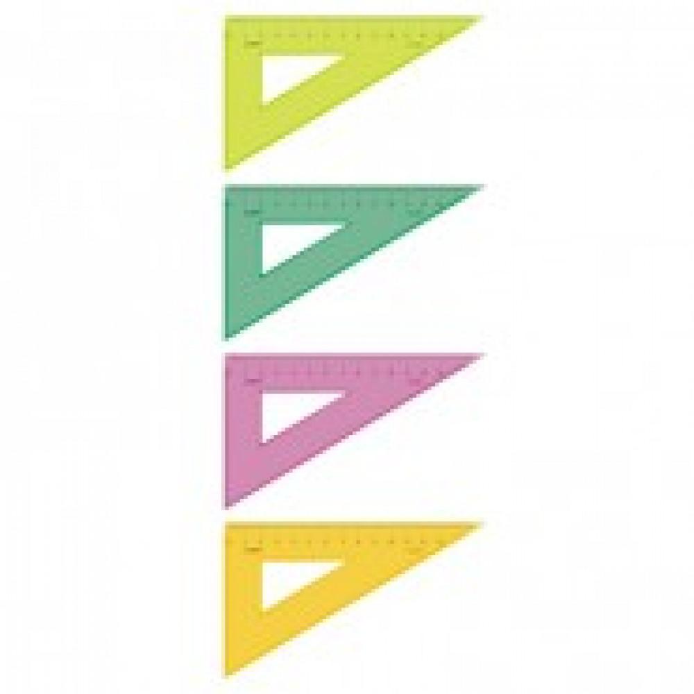 Треугольник 13 см угол 30 градусов NEON Cristal 4цв ТК-33