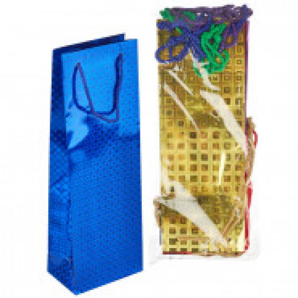 Пакет подарочный 10 штук в упаковке ГОЛОГРАФИЯ BG 123x362x78