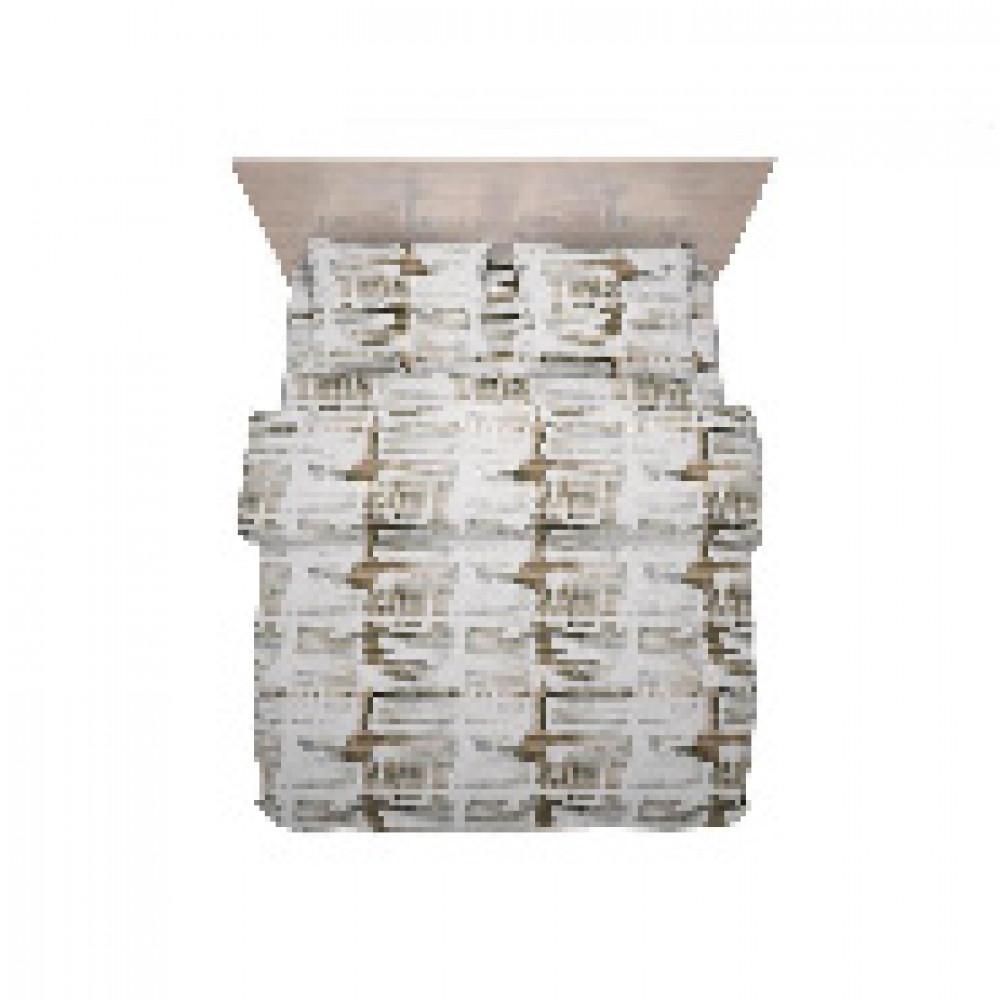 Комплект постельного белья 1,5 сп полисатин 60 гр/м2 Crystal бежевый