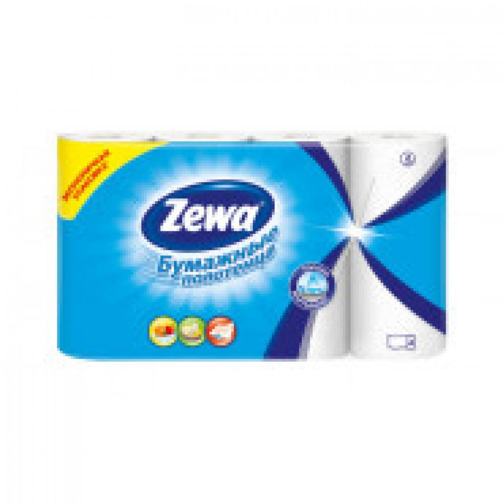 Полотенца бумажные ZEWA 2-сл.,белые 4рул/уп.144099