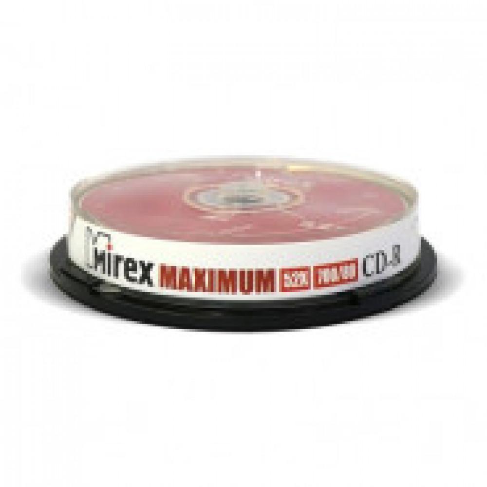 Диск CD-R Mirex 0,7 GB 52x (10 штук в упаковке)