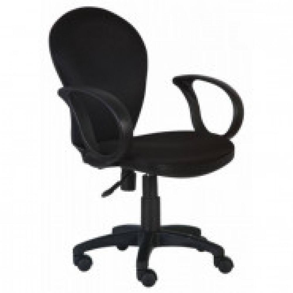 Кресло VB_CH-687AXSN ткань чёрная JP15-2, пластик чёрн.(664013)