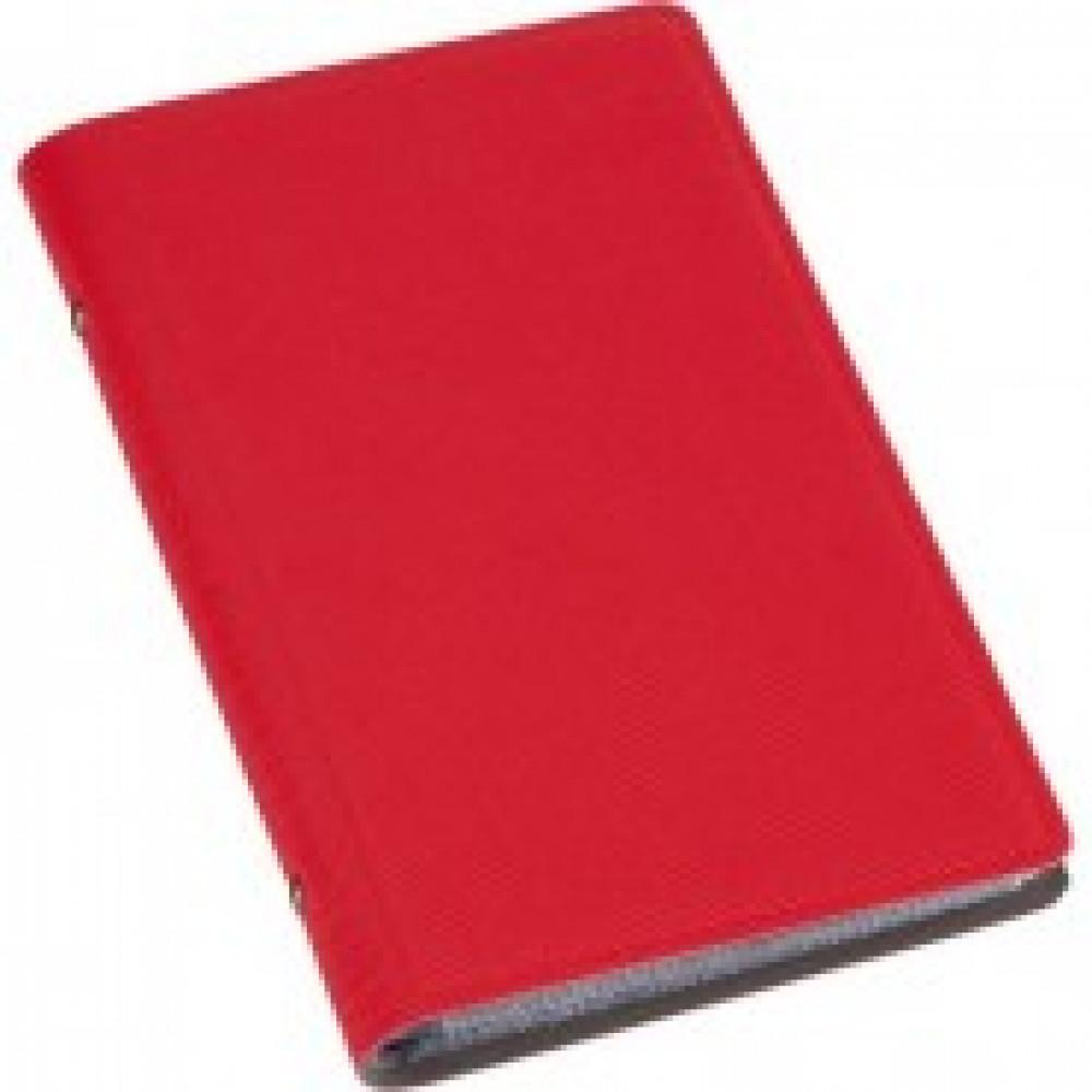 Визитница настольная , 3 кармана, на 96 визиток, PU, красный