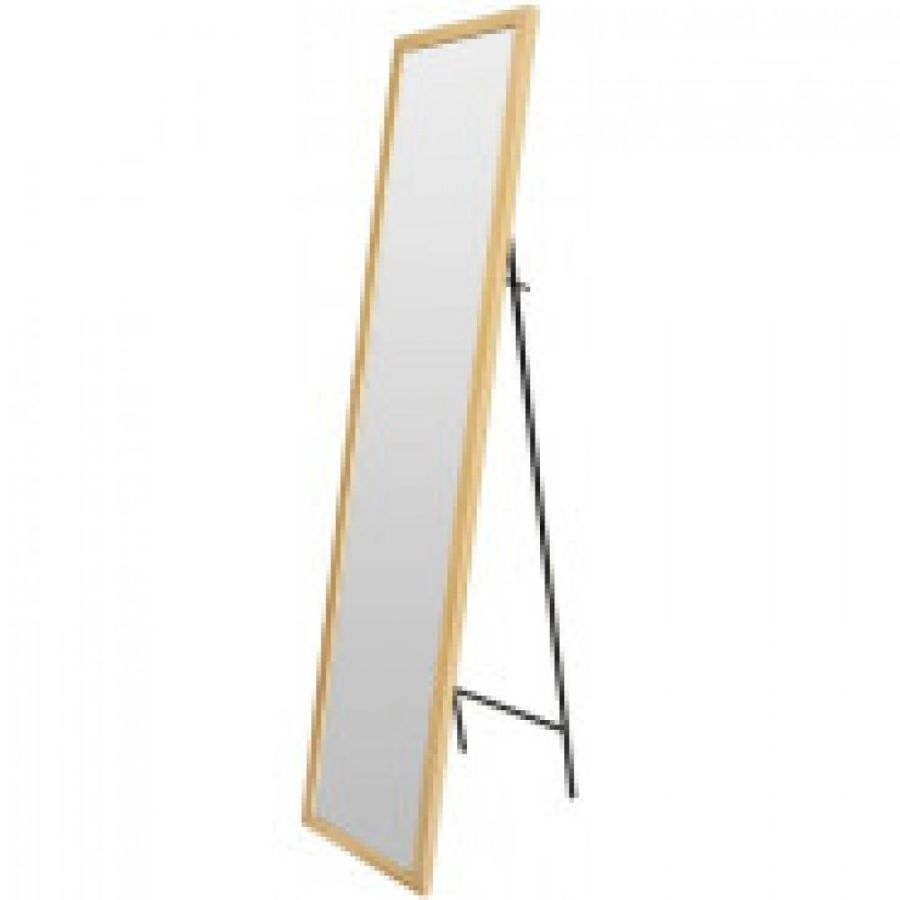 Зеркало МИР_в раме МДФ 354x24x1554 / 300x1500 (3400421.10) светлоедерево