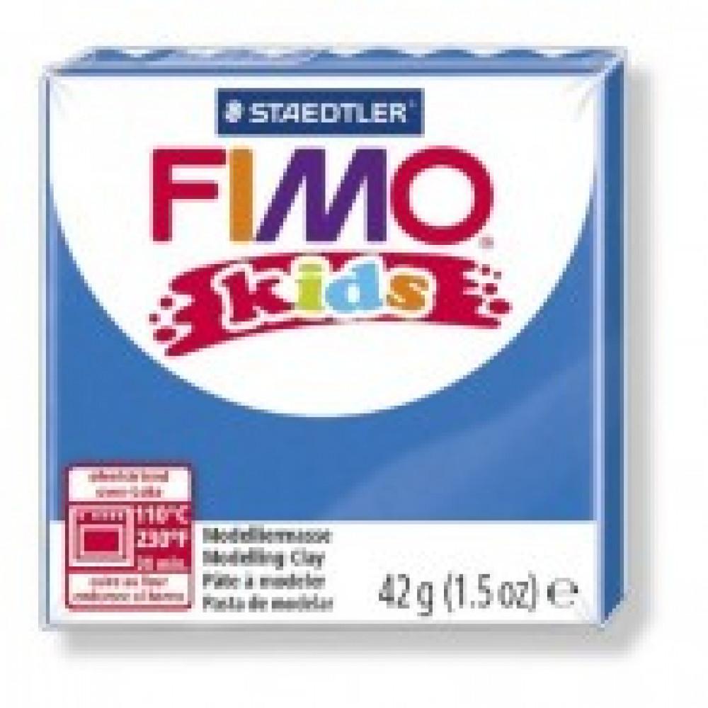 Глина полимерная синяя, 42гр,FIMO,kids,8030-3
