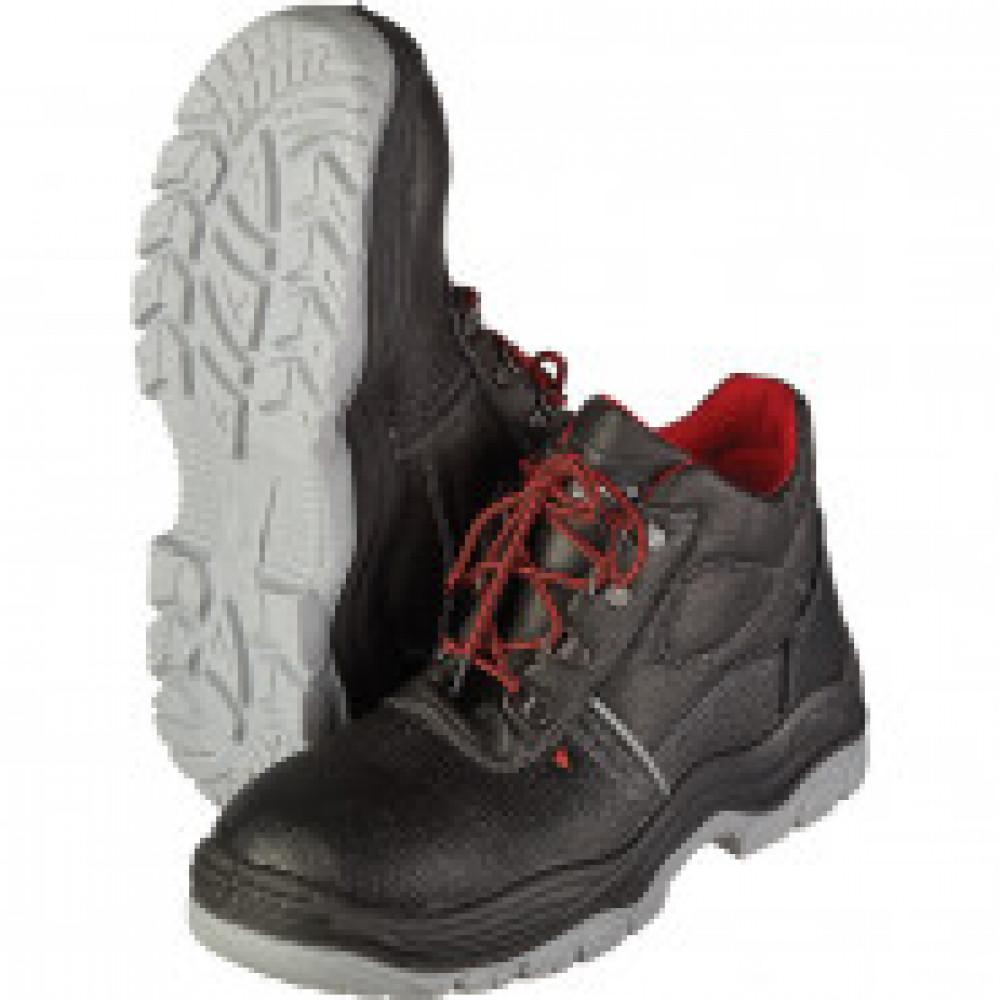 Ботинки Lider натуральная кожа черные с металлическим подноском размер 36