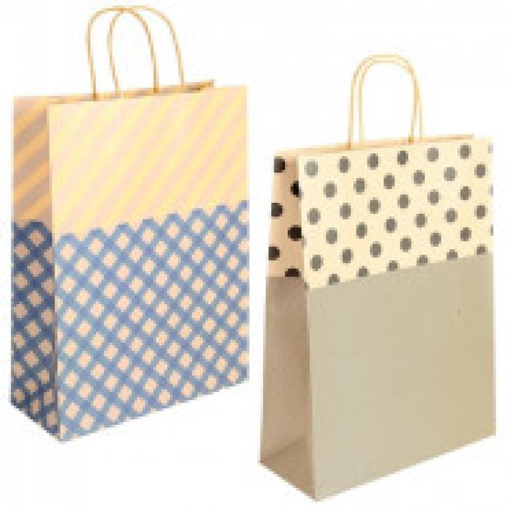 Пакет из крафт-бумаги 30х40х12см 2 дизайна (58152)