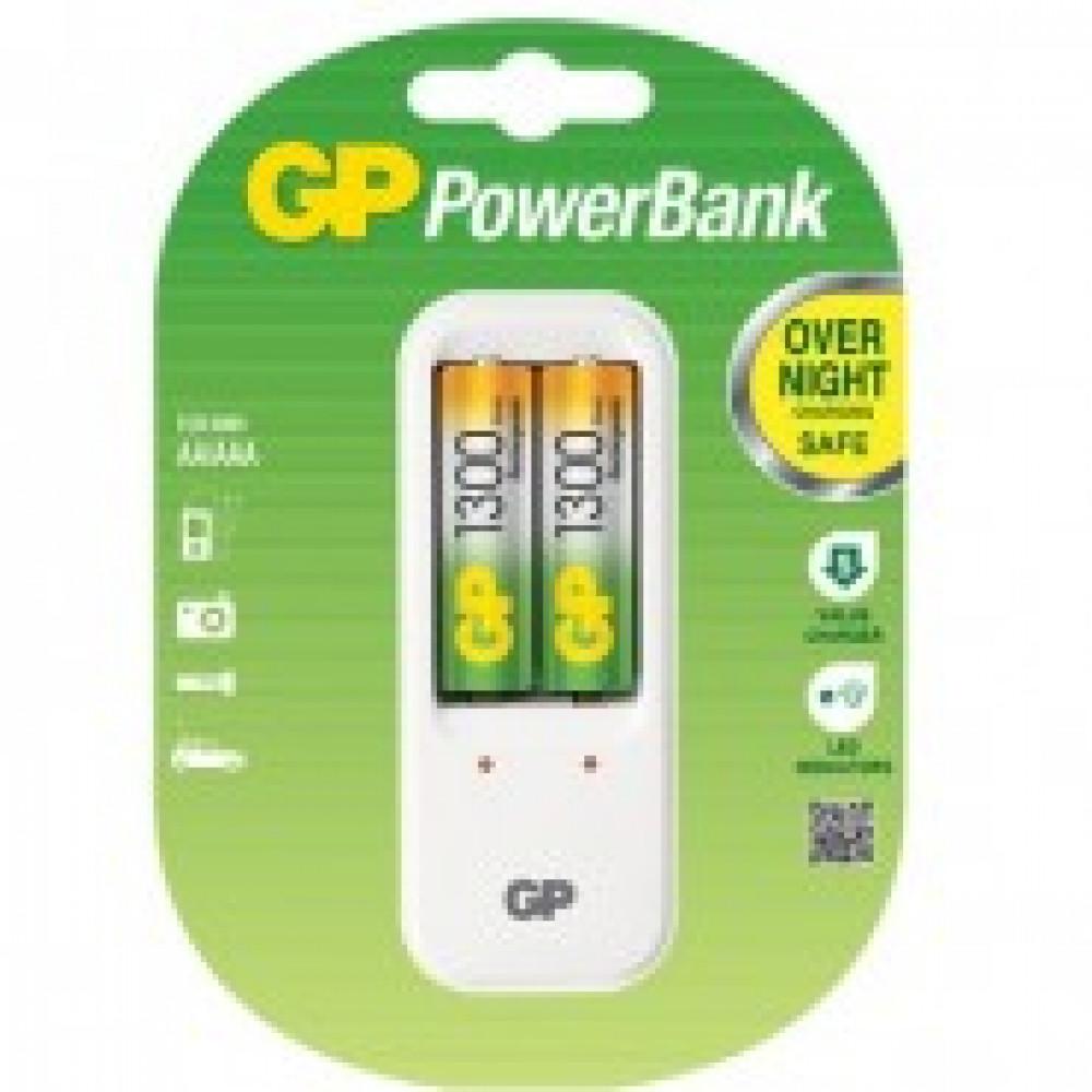 Зарядное устройство GP PB410GS130, в комплекте 2 акк. 1300 mAh