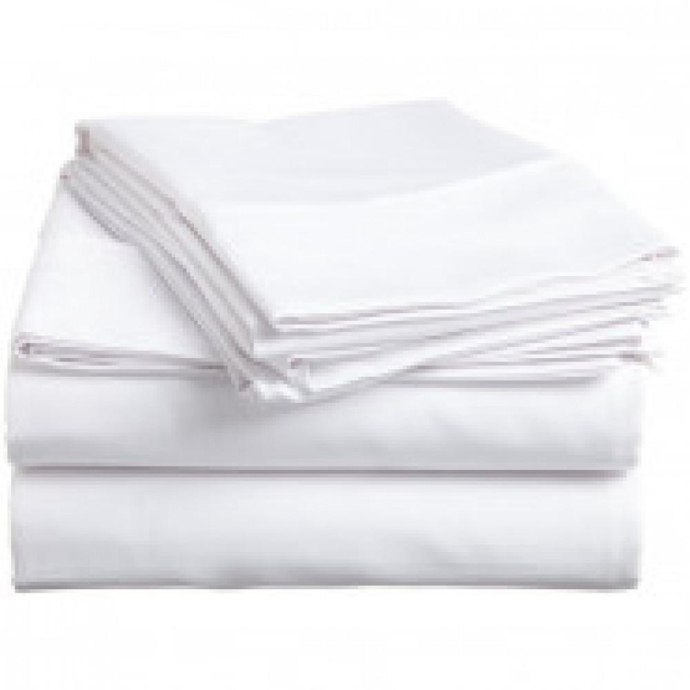Комплект постельного белья 1.5-спальный 145гр/м бязь,белый