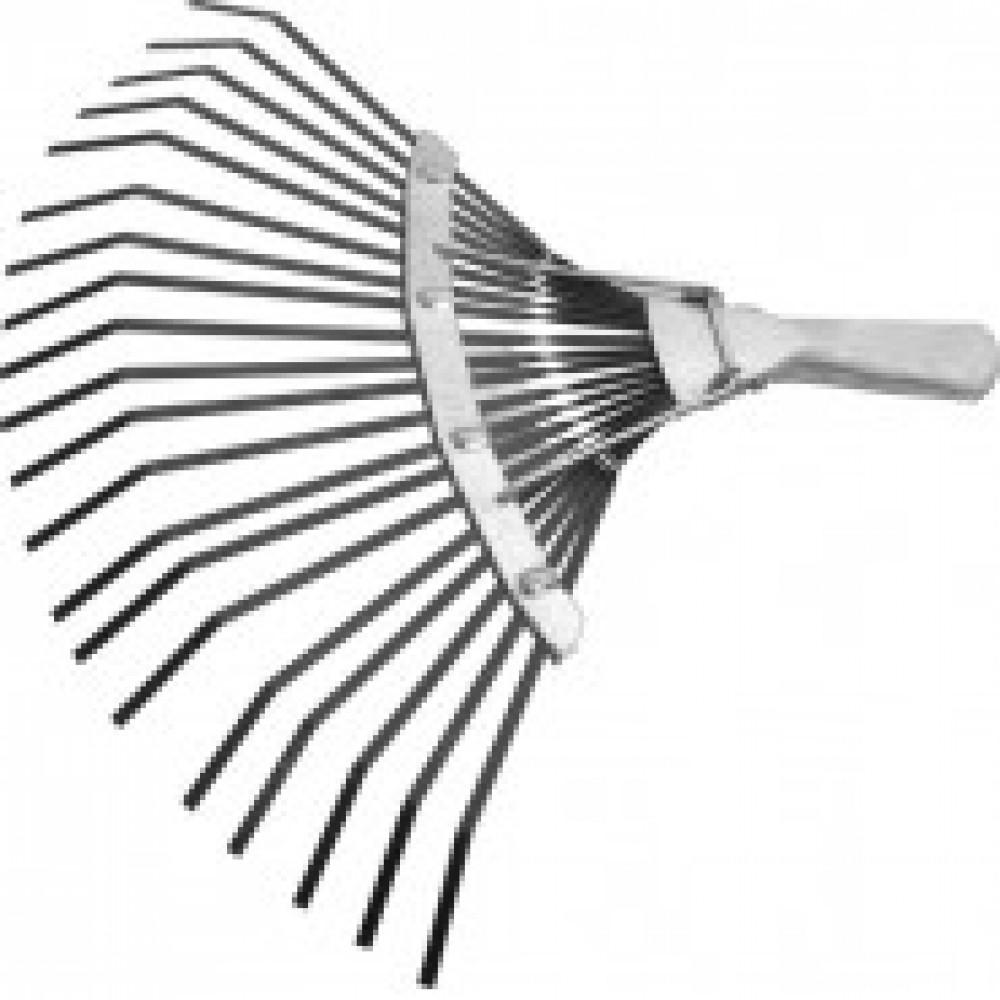 Грабли веерные 20 зубьев, б/черенка, плоские (61778)