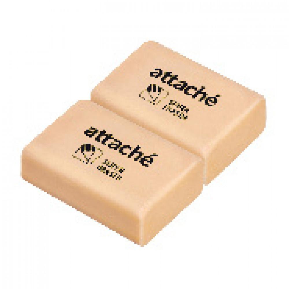Ластик Attache,прямоугольная форма, 31x21x12мм (365788), 2 шт. в уп