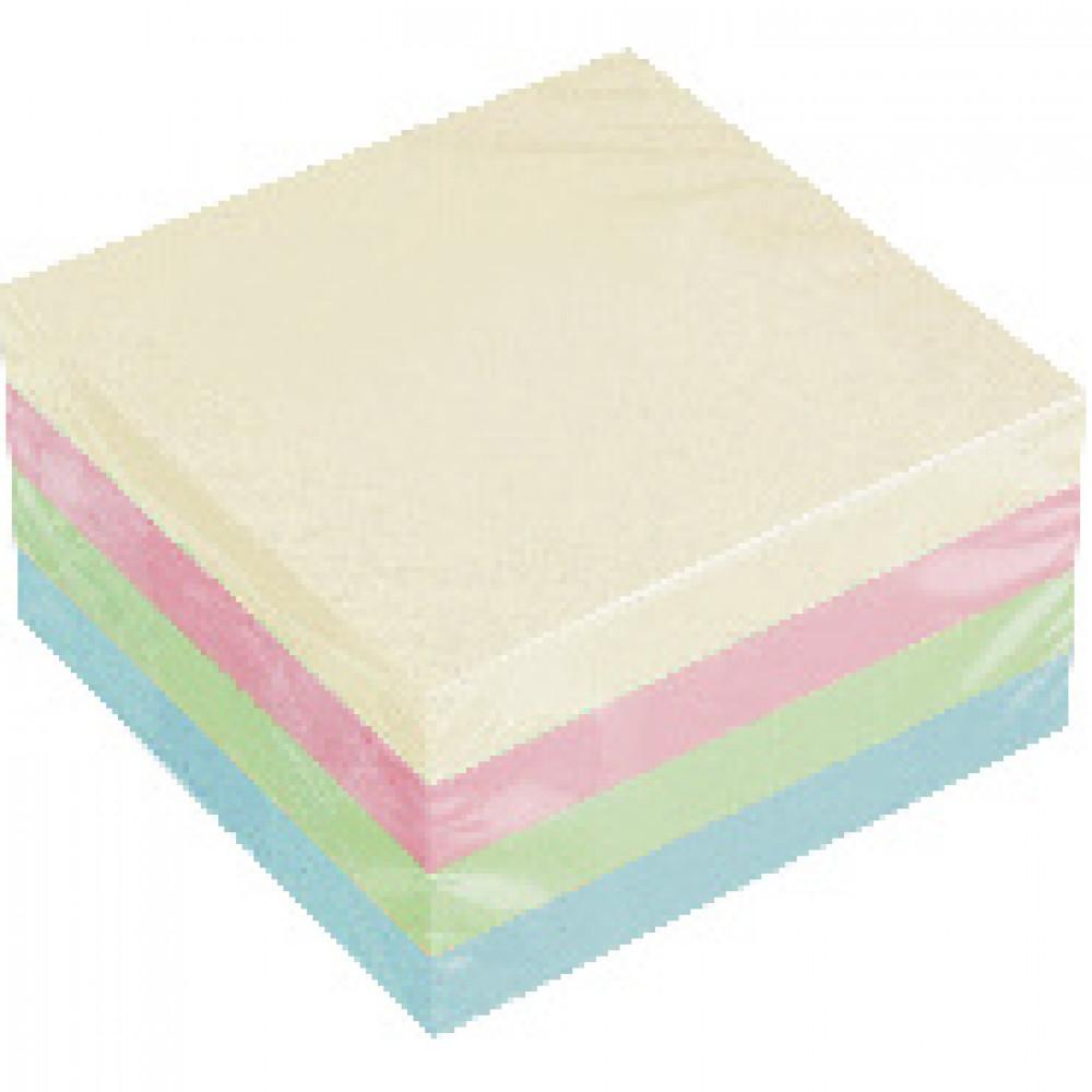 Блок-кубик Attache куб 76х76, пастель 4 цвета 400 л