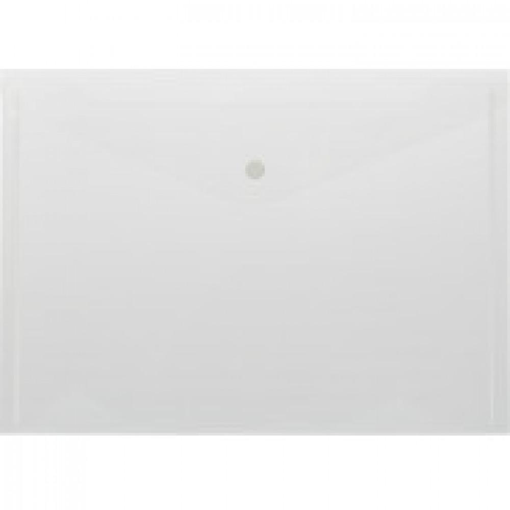 Папка-конверт на кнопке Attache 330x240 мм прозрачная 180 мкм (10 штук в упаковке)