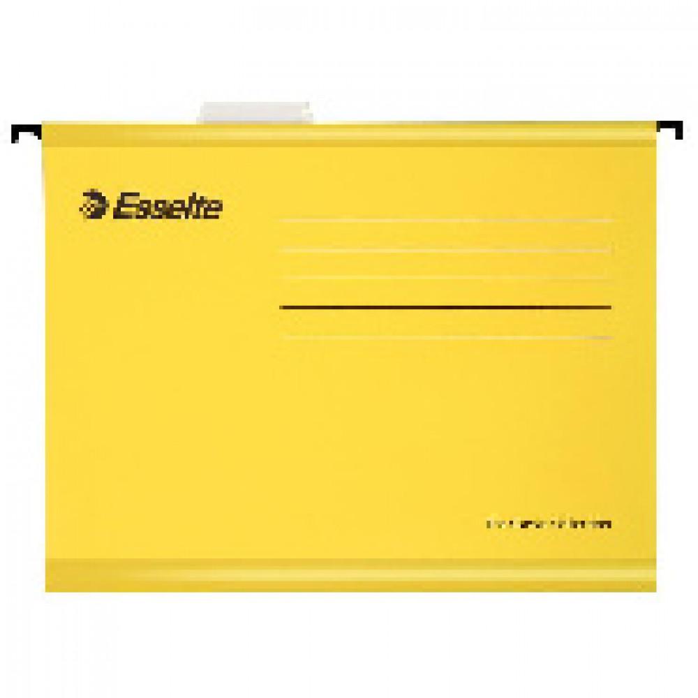 Подвесная регистратура папка Esselte Plus Foolscap, желтый 90335 25 шт