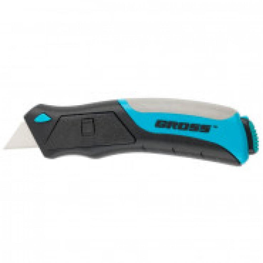 Нож Gross ремонтно-монтажный, кнопочный механизм,6 лезвий в комплекте78879