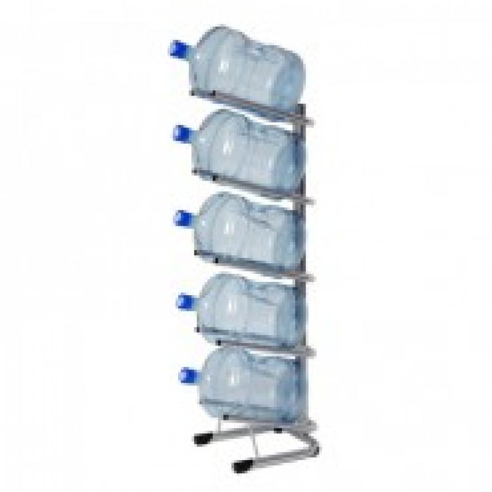 Метал.Мебель KD_Бридж-5 стеллаж для воды бутилир. на 5 тар, цв. серый