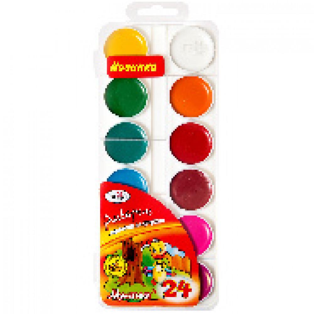Акварельные краски Гамма Мультики медовые 24 цвета