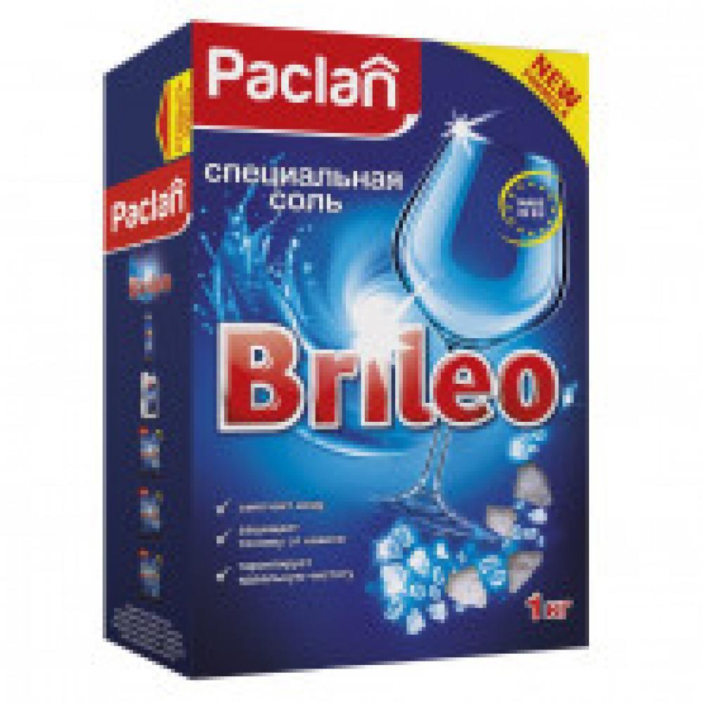 Соль для посудомоечных машин  Paclan BRILEO 1кг