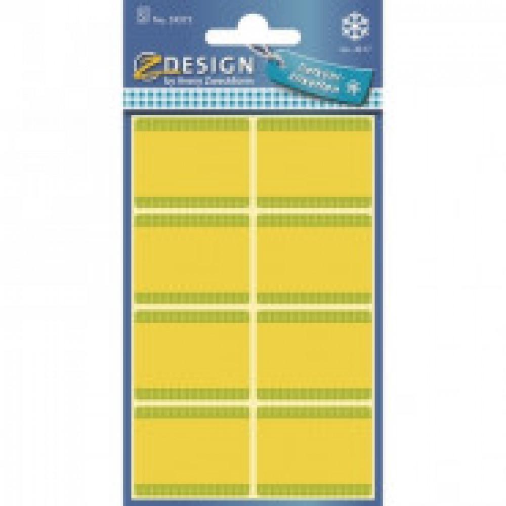 Этикетки всепогодные Z-design 59373,желтые 28х36мм, 8шт/л. 5л./уп