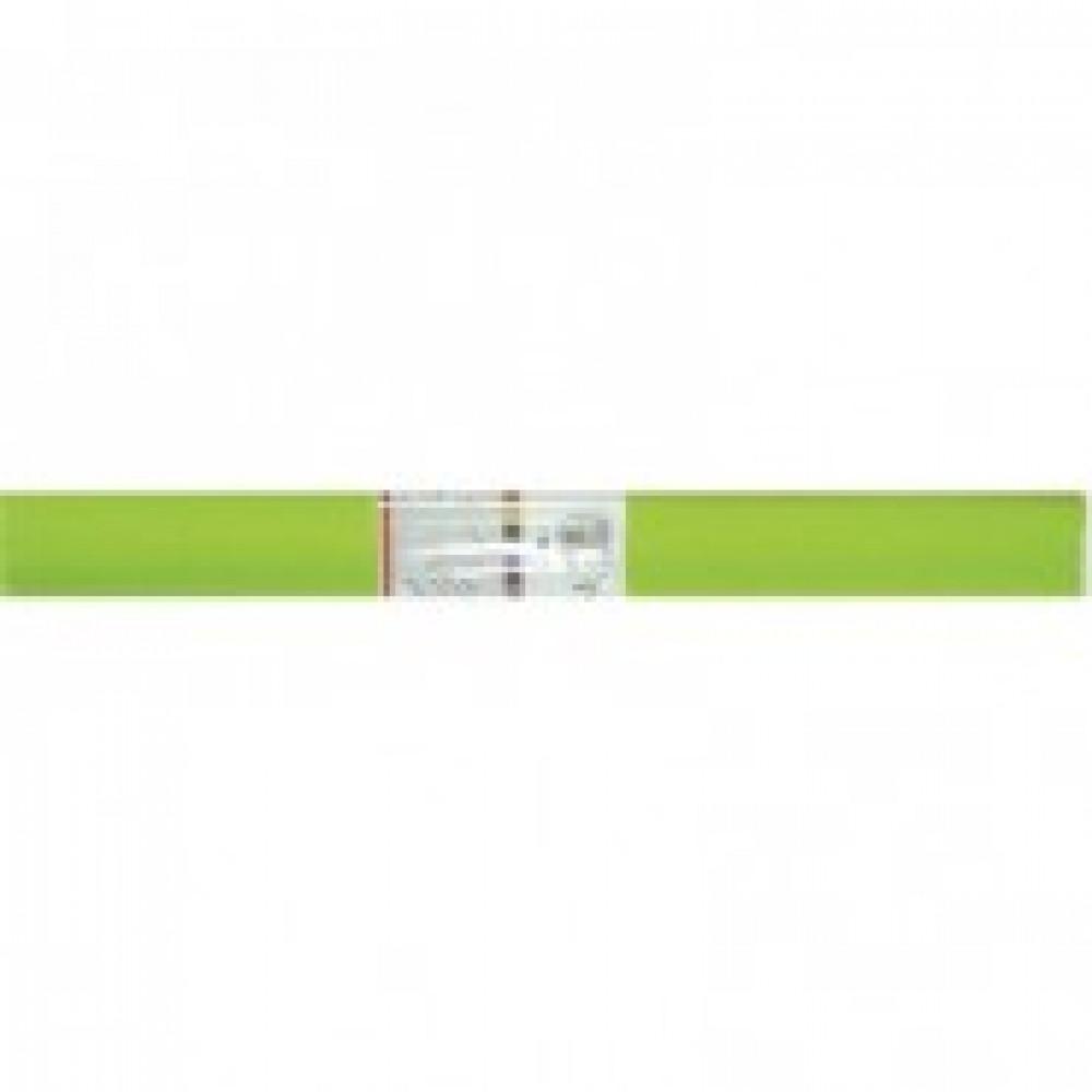 Бумага для творчества креповая WEROLA, 50см*250см 32г/м зел.яблоко,12061-11