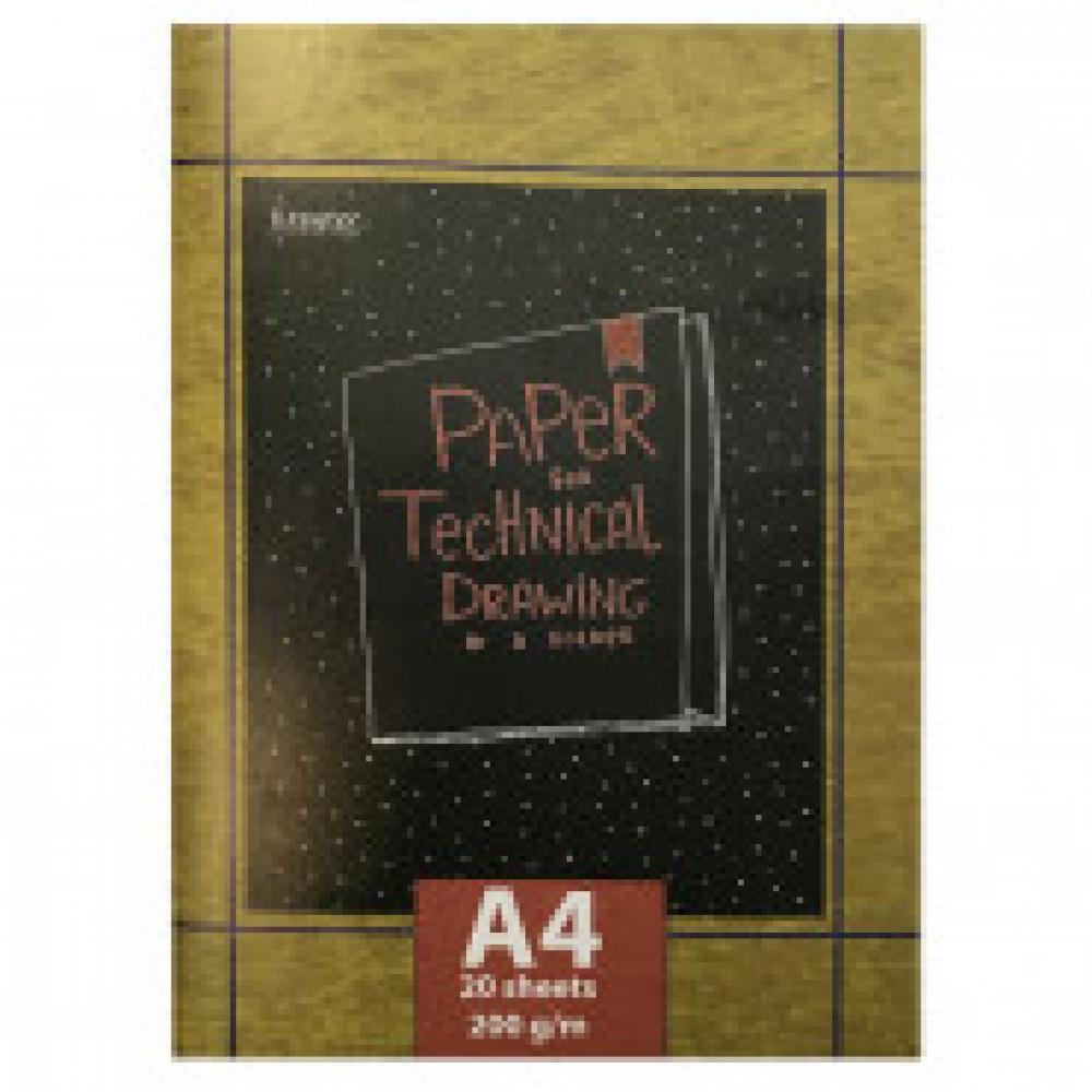 Папка для черчения Kroyter Техническая А4 20 листов