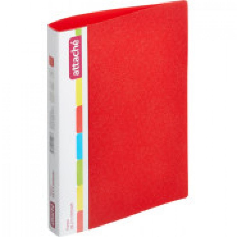 Папка на 2-х кольцах Attache 32 мм красная до 150 листов