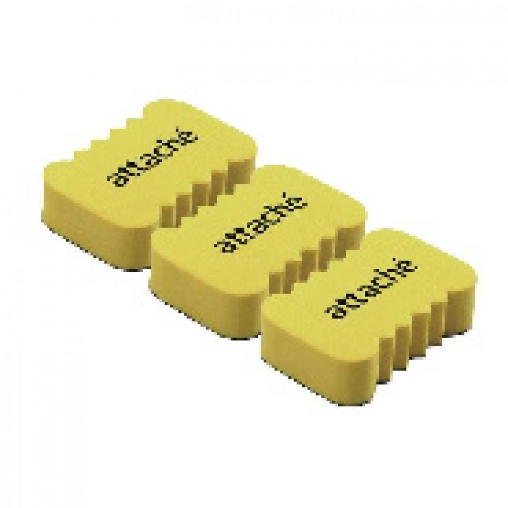 Губка-стиратель для маркерных досок Attache Economy, 5.5x3.5x1.5cм,3 шт/уп
