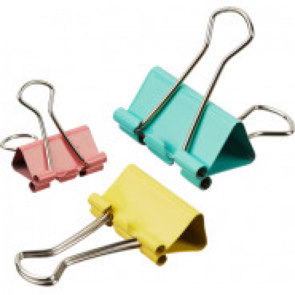 Зажимы для бумаг Attache 19/25/32 мм цветные (10 штук в упаковке)