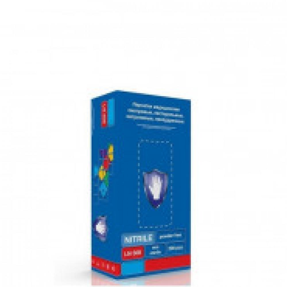 Перчатки медицинские смотровые нитриловые S&C LN308 нестерильные неопудренные фиолетовые размер M (200 штук в упаковке)